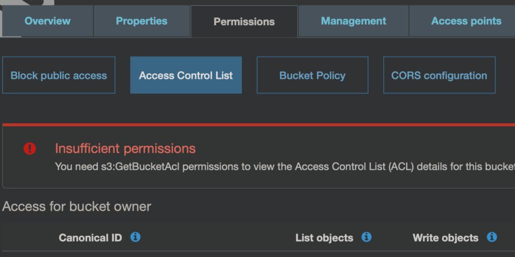 Bezpieczna dane na S3 i blokowanie dostępu do Access Control Lista